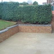 Tuinmuur muur in de tuin for Grensafscheiding tuin